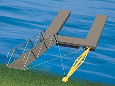 Stiff Arm Floating Aluminum Dock Anchoring Method Wahoo