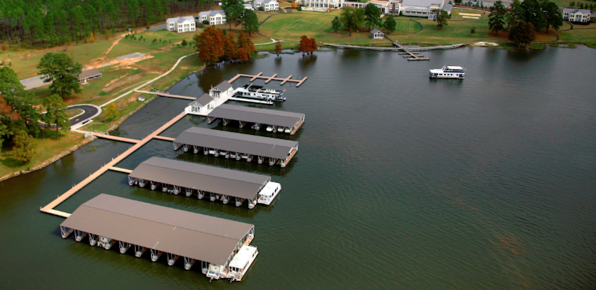 preparing a floating dock