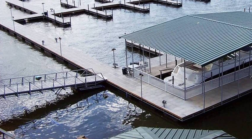 floating dock anchoring systems